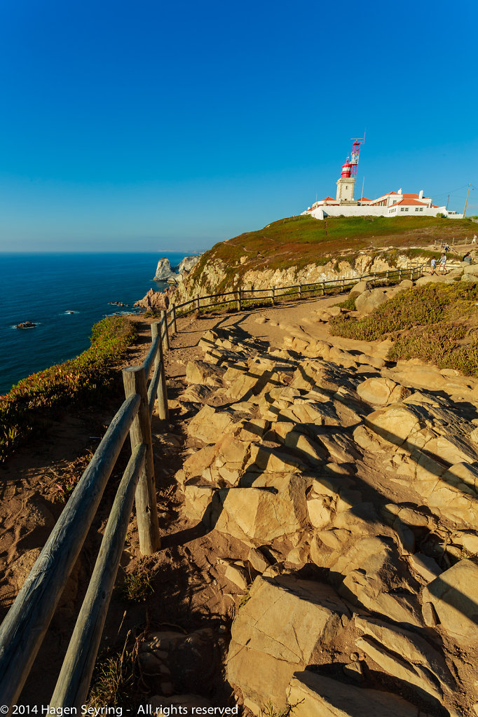 Lighthouse on the top of Cabo da Rocca