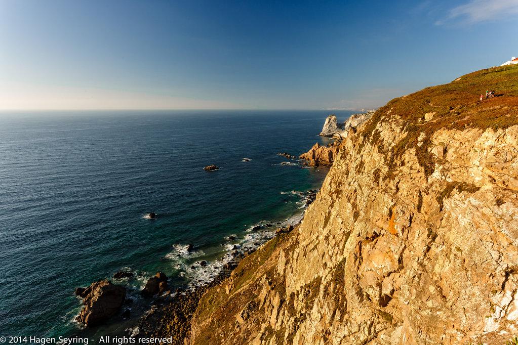 Cliff coast onCabo da Roca