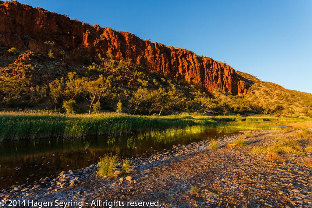 Rocks formation in the morning at Glen Helen