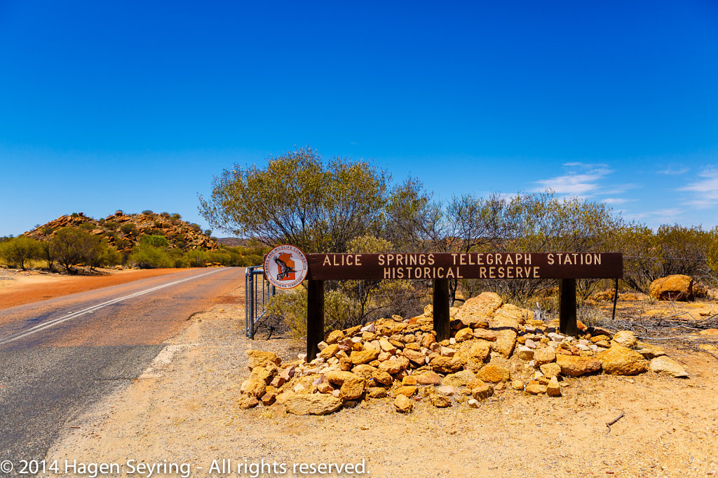 On the way to the Historic Telegraph Station