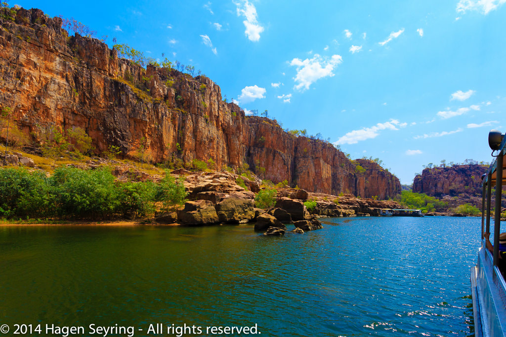 Steep rocks oin the Katherine Gorge