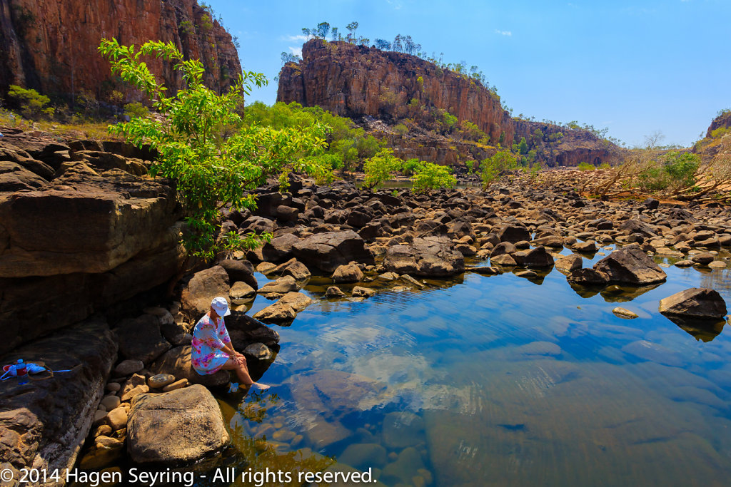 Water pool in the Katherine Gorge