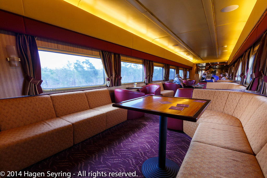 Lounge carriage in the Ghan Express
