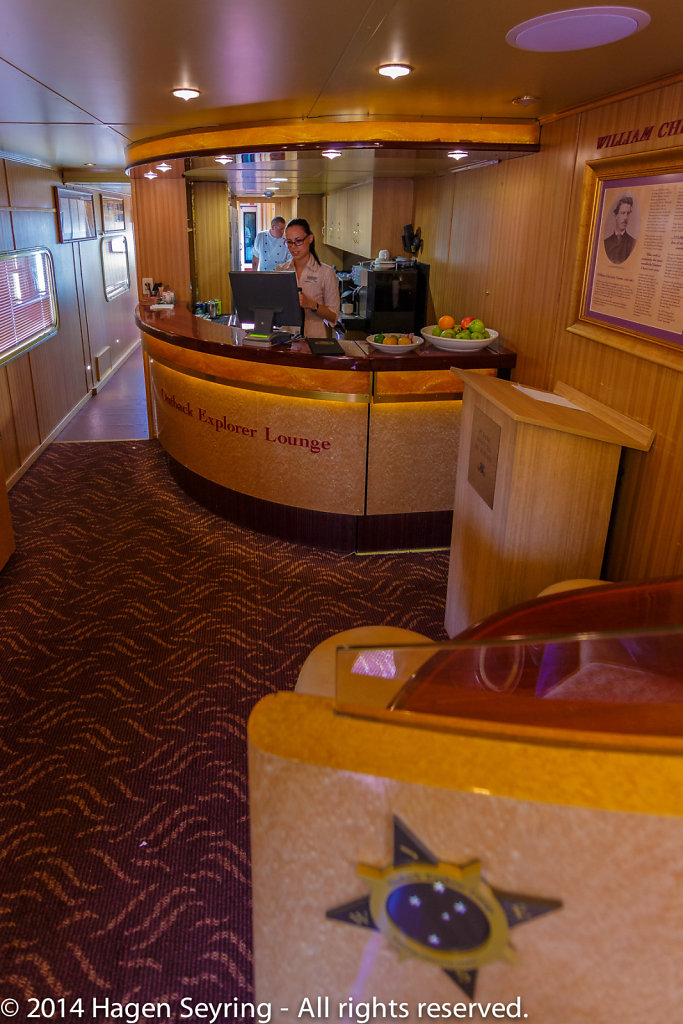 Bar in the Ghan Express