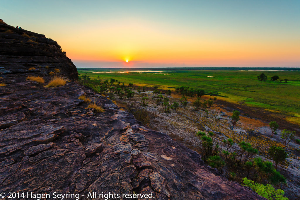 Sunset on the Ubirr Rocks