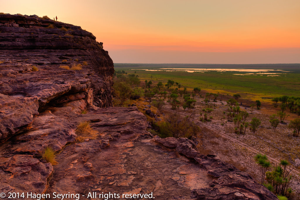 After Sunsets on the Ubirr Rocks in the Kakadu National Park