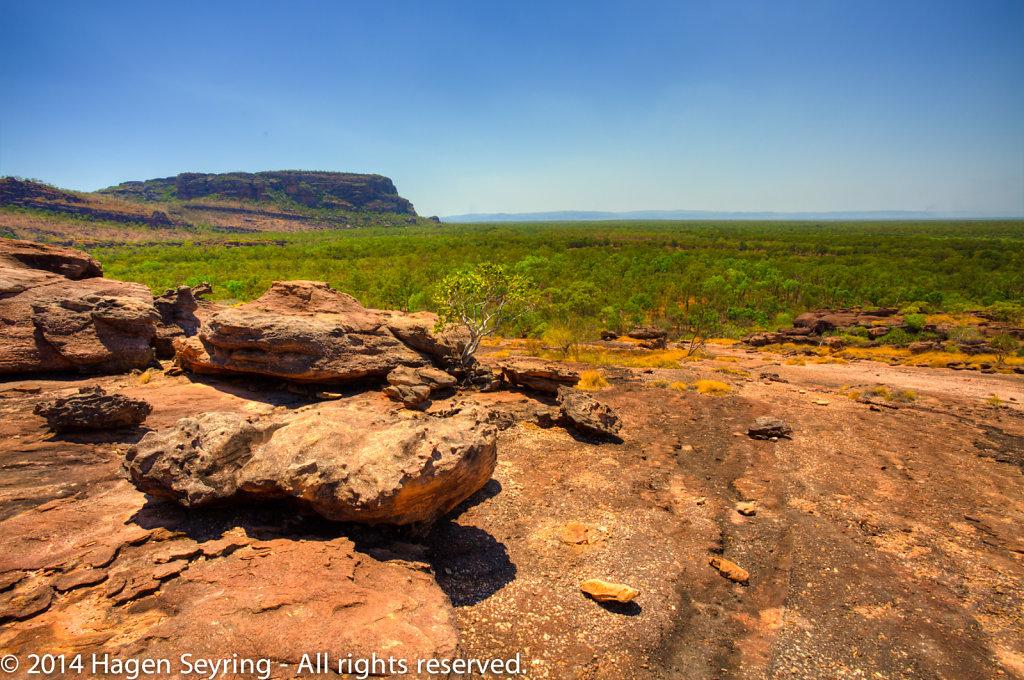 View to the Nourlangie rocks from  Nawurlandja