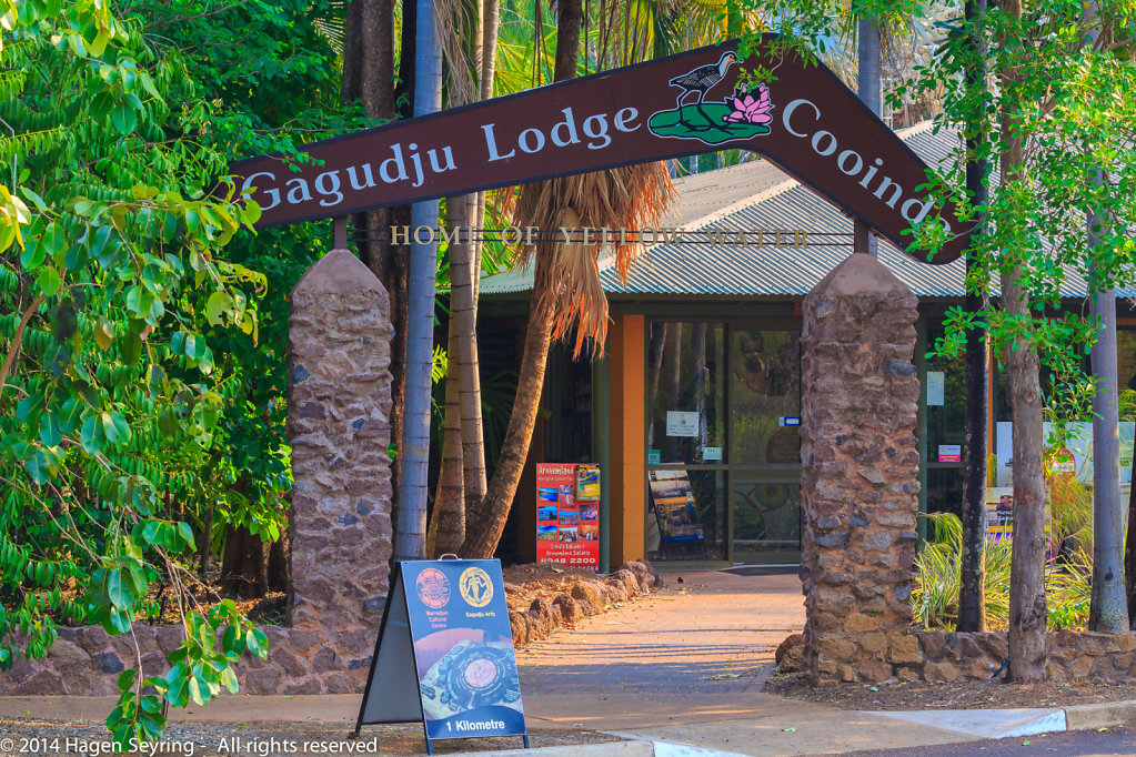 Entry to the Cooinda Lodge