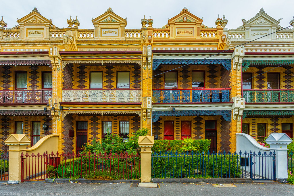 Beautiful victorian terraced housing in Fitzroy North of Melbourne