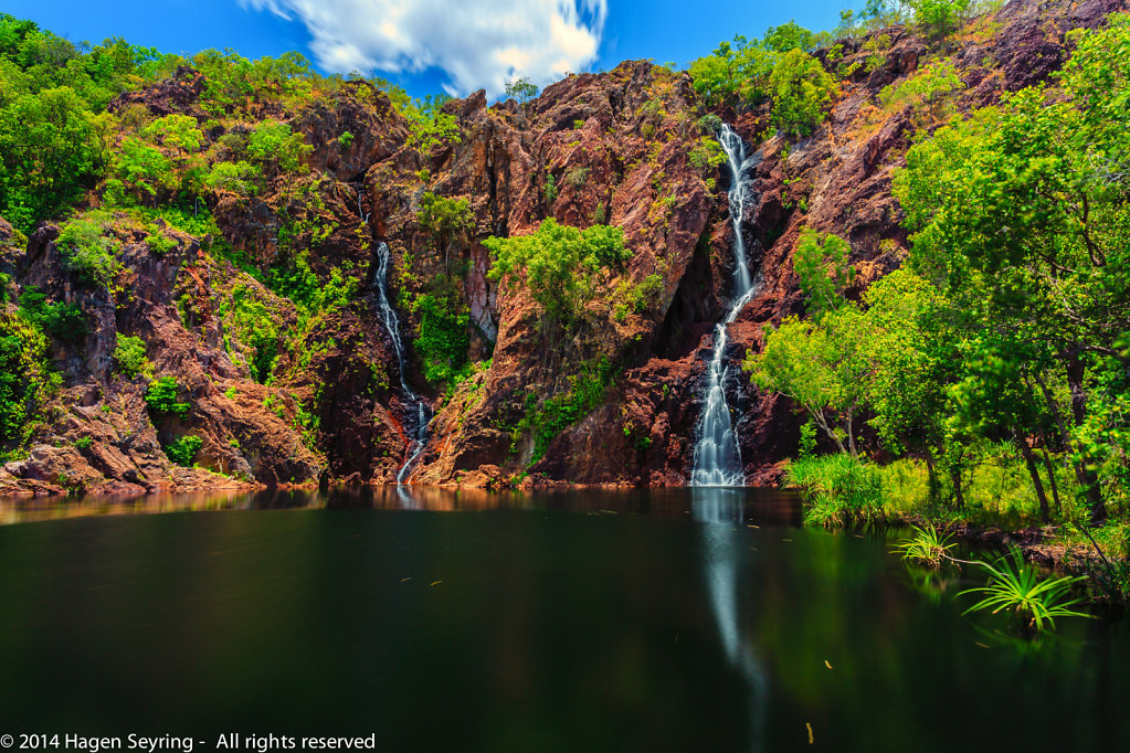 The Wangi Falls in the Litchfield National Park