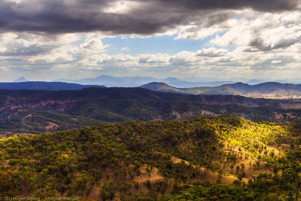 View over the Lamington National Park