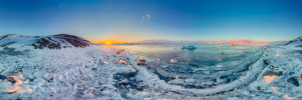 Panorama of the Glacier Lagoon, Iceland