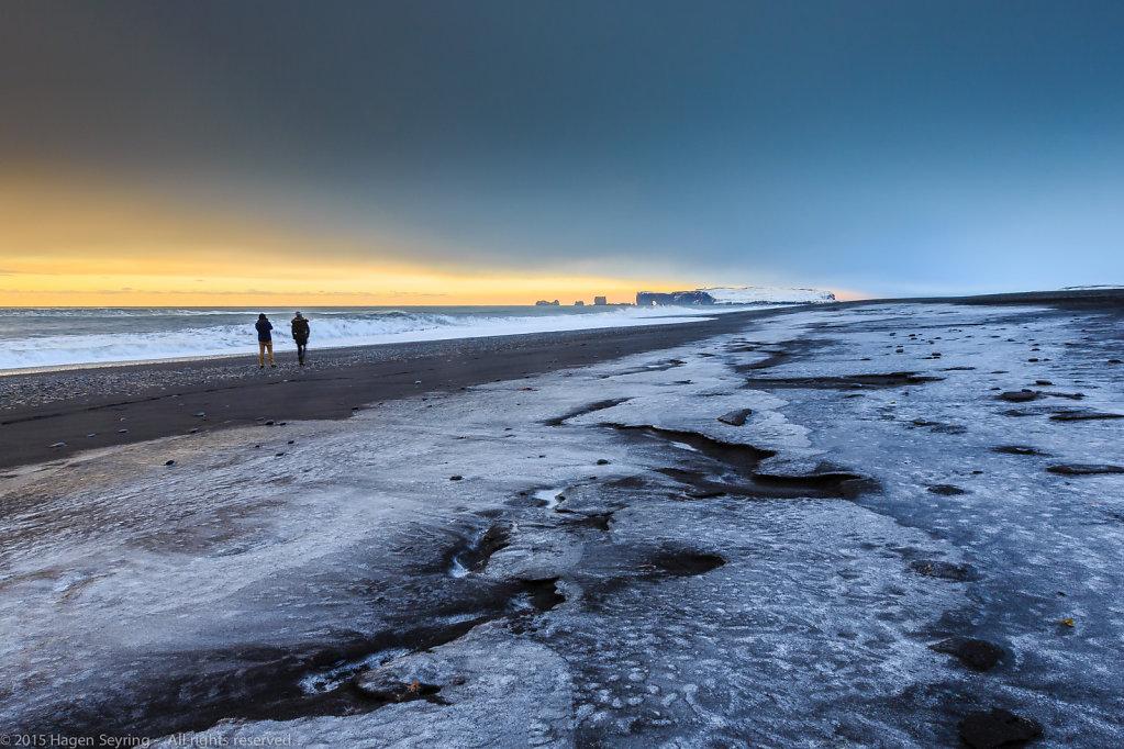 Black beach of Reynisfjara/ Vik, South Iceland