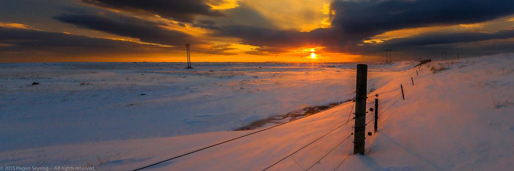 Polar sun in Iceland