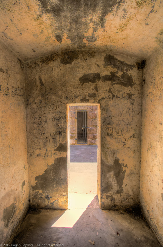 Prison cell of Trial Bay Goal from inside
