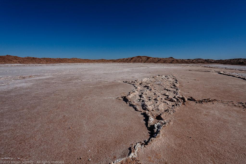 Cristallized salt in a salt lake