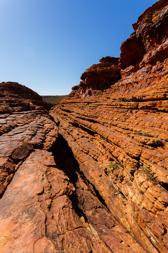 Brownstone rocks in the Kings Canyon