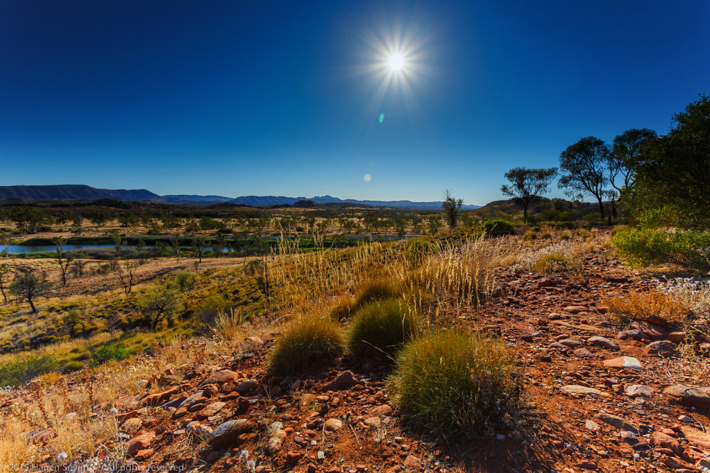 Sunrise in the MacDonnel Ranges