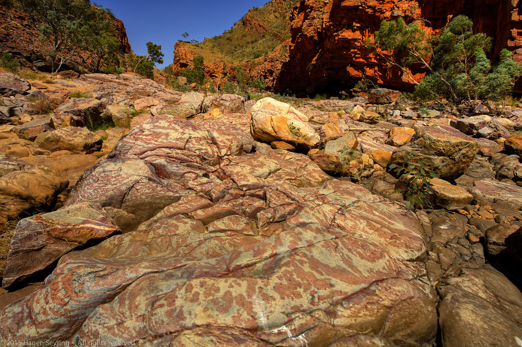 Rock formation in the Ormiston Gorge