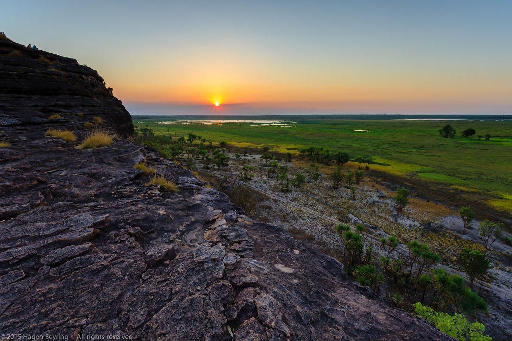 Sunset on the Ubirr Rocks
