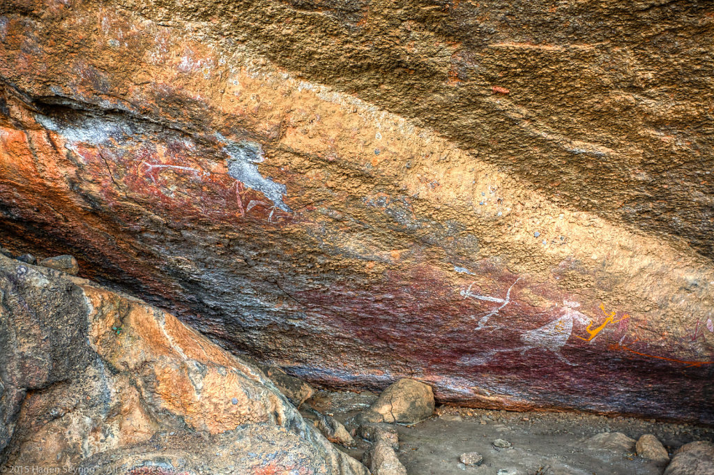Aboriginal art in the Nourlangie Rock Art Site