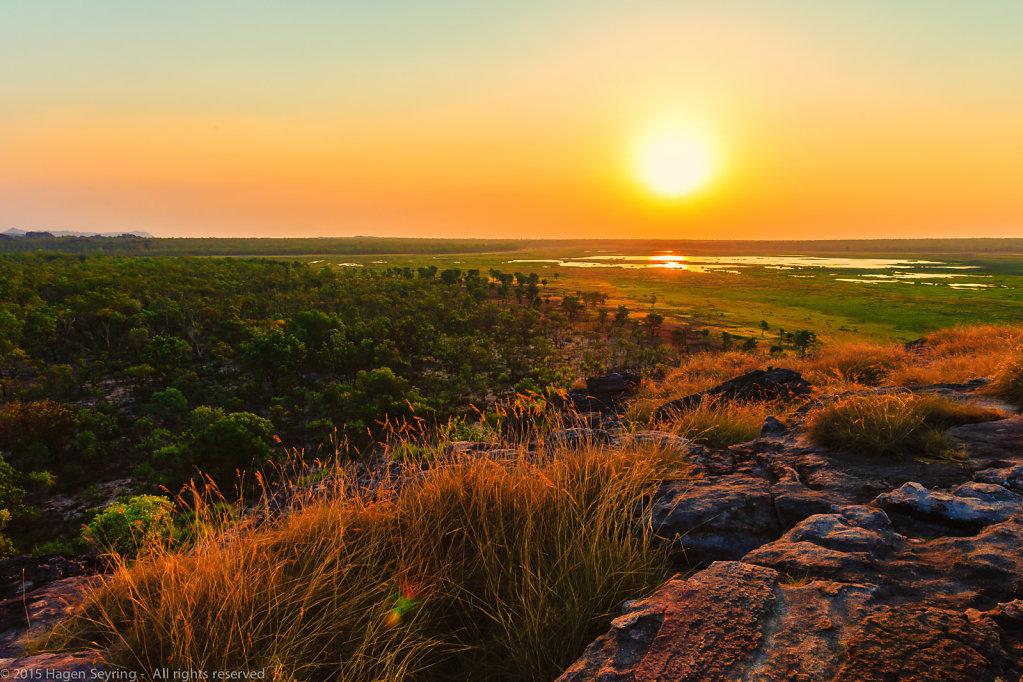 Sunset from the Ubirr Rocks
