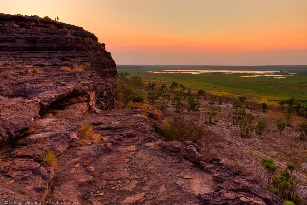 After Sunsets on the Ubirr Rocks in the Kakadu National Park