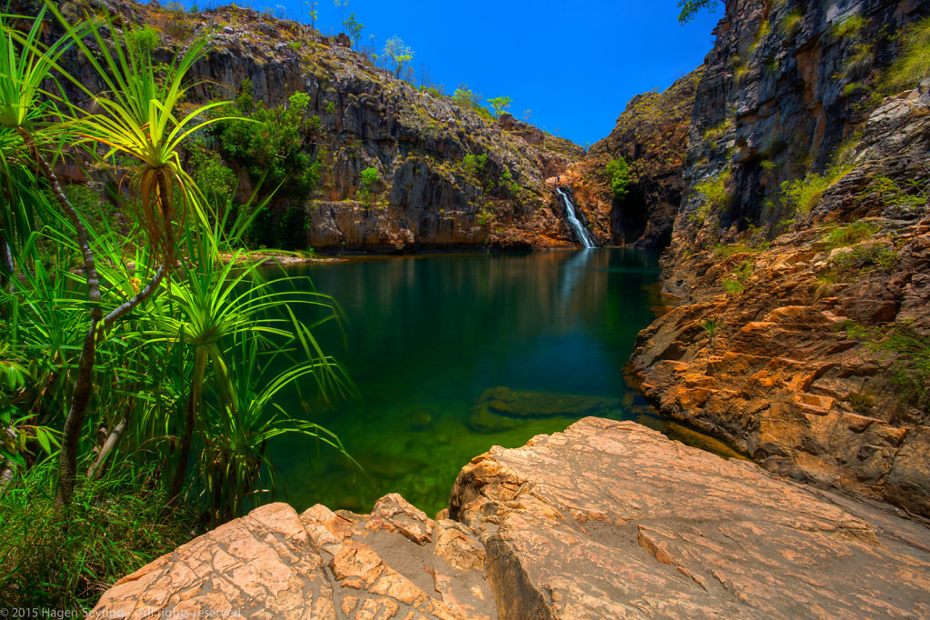 Maguk waterfall with a waterhole