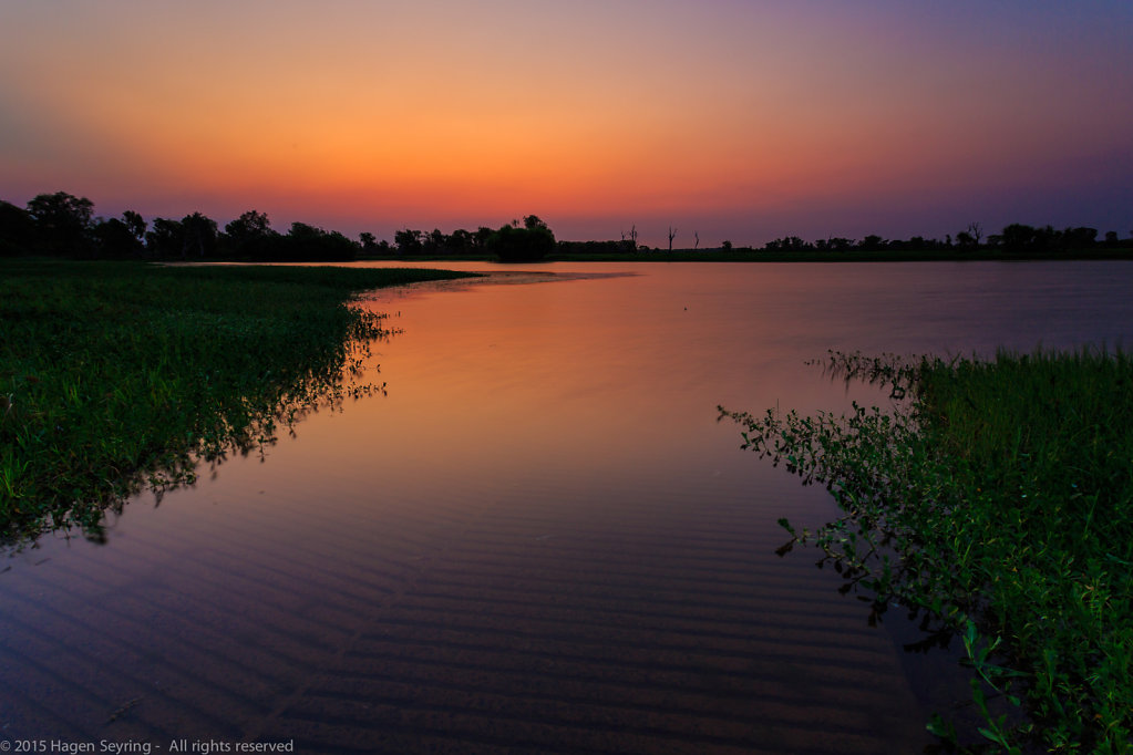 Evening mood on the Yellow Water Billabong