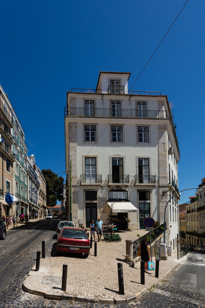 Old building in the historic Alfama