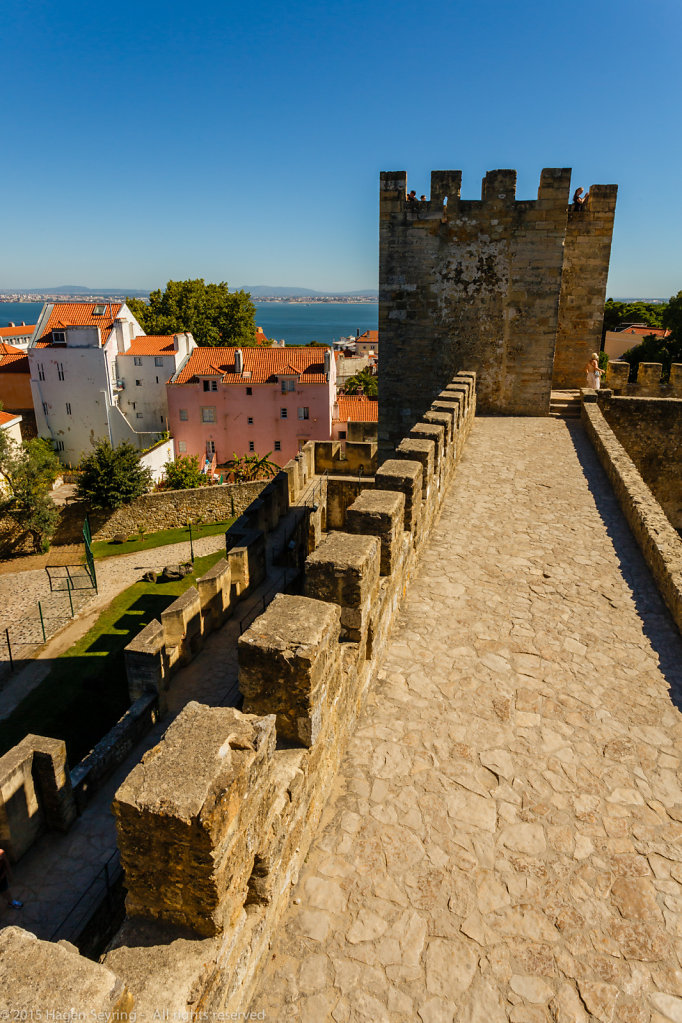 View from the Castell St. Jorge to the river Tejo